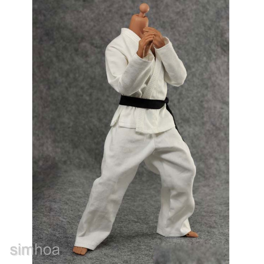 """Karate Outfit for 1//6 scale 12/"""" Female action figure.Hot Toys CY CG Girl BBI"""