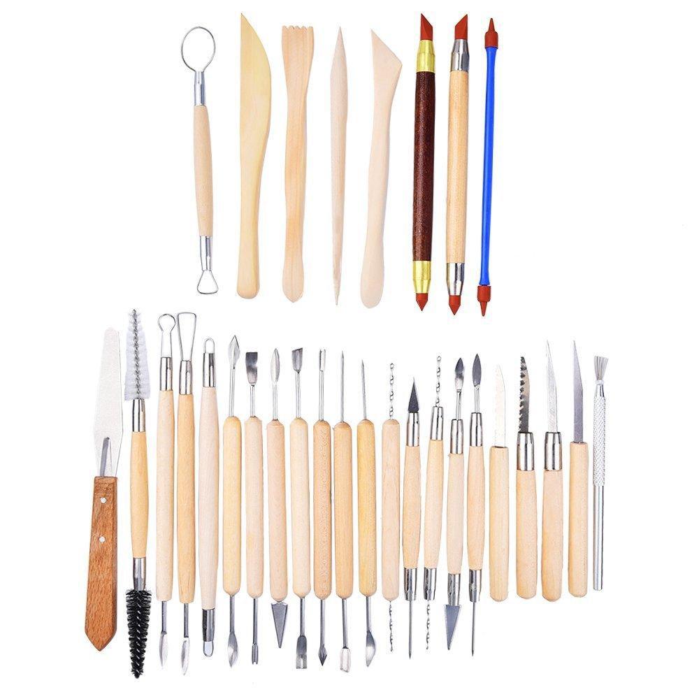30pcs Clay Sculpting Tools Pottery Carving Tool Set Modeling Ceramics Art Crafts