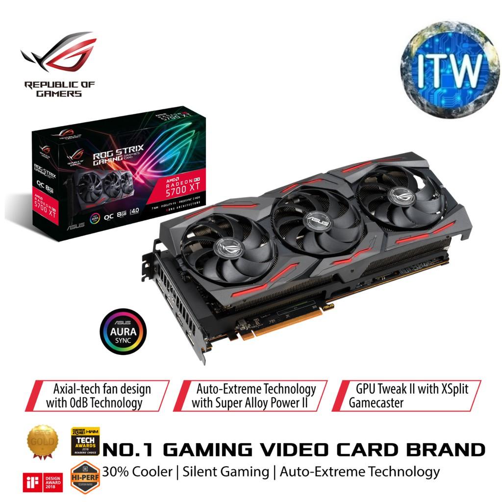 Asus Rog Strix Radeon Rx 5700 Xt Gaming Oc Edition 8gb Rog Strix Rx5700xt O8g Gaming Shopee Philippines