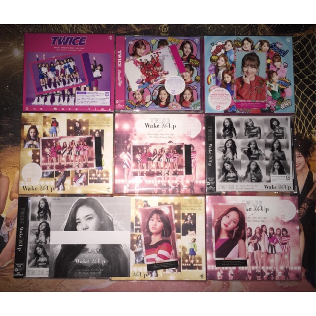 Twice Album Japan Omt Candy Pop Wake Me Up Photocard Poster