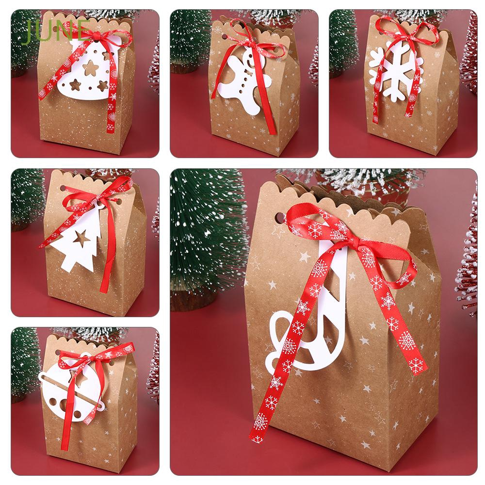June Christmas Gift Wrapping Supplies Kraft Paper Bag Shopee Philippines