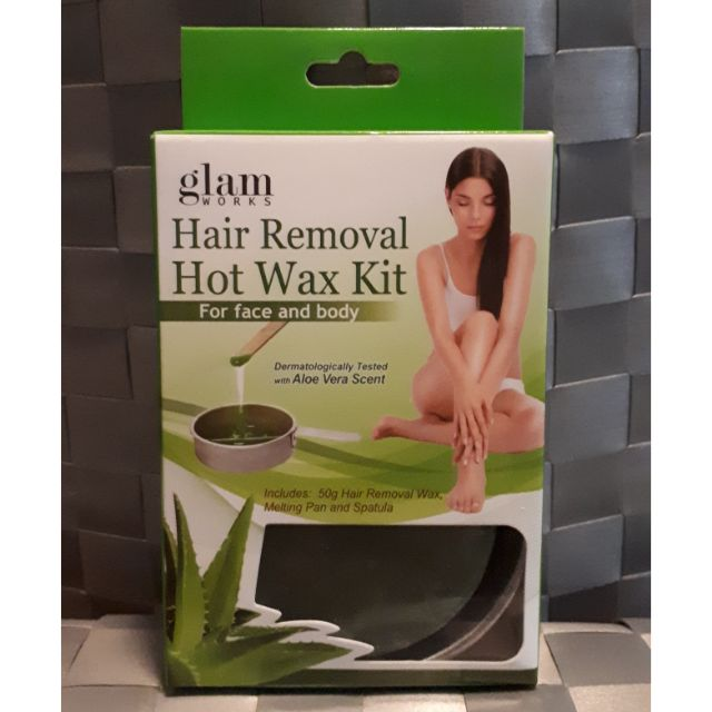 Glam Works Hair Removal Hot Wax Kit Shopee Philippines