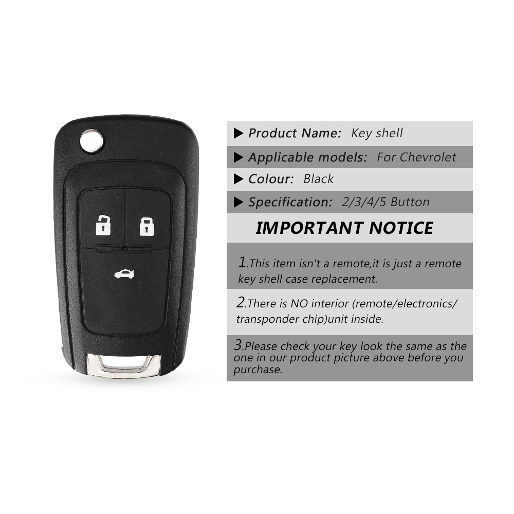 Keyyou Flip Folding Remote Car Key Shell For Chevrolet Cruze Epica Lova Camaro Impala 2 3 4 5 Button Hu100 Blade Shopee Philippines
