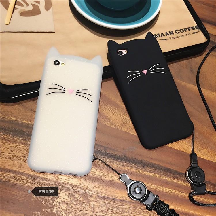 c9ab8ca37192ee ProductImage. ProductImage. 3D Cat Ears Soft Iphone Case 5 5s Se 6 6s 7 8  Plus X