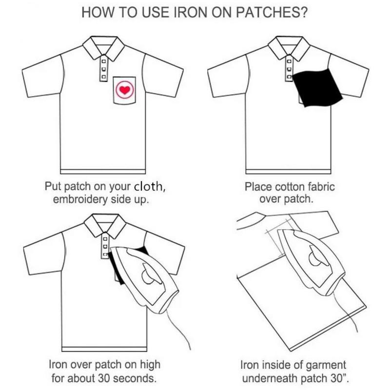 Cute but Psycho Iron on//Sew on Embroidered Patch//Badge T-shirt Patch