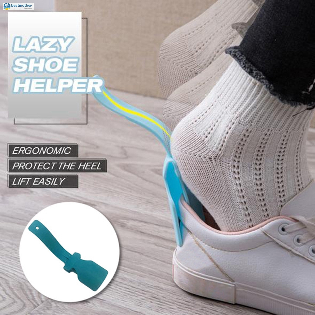 Details about  /2Pcs Lazy Shoe Helper Handled Shoe Horn Easy on /&Off Lifting Helper Unisex GRAY
