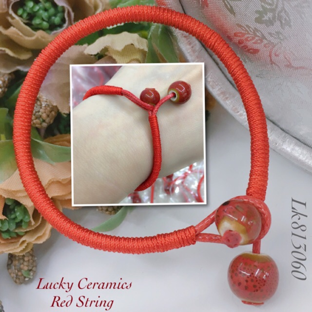 5cd0a573cc6b9 Lucky Ceramic Red String Bracelet