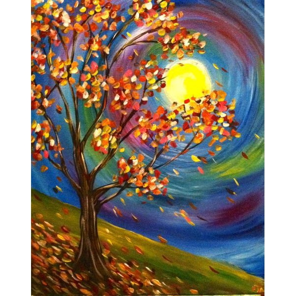 5D DIY Full Drill Diamond Painting Autumn Embroidery Mosaic Craft Kit Ornament