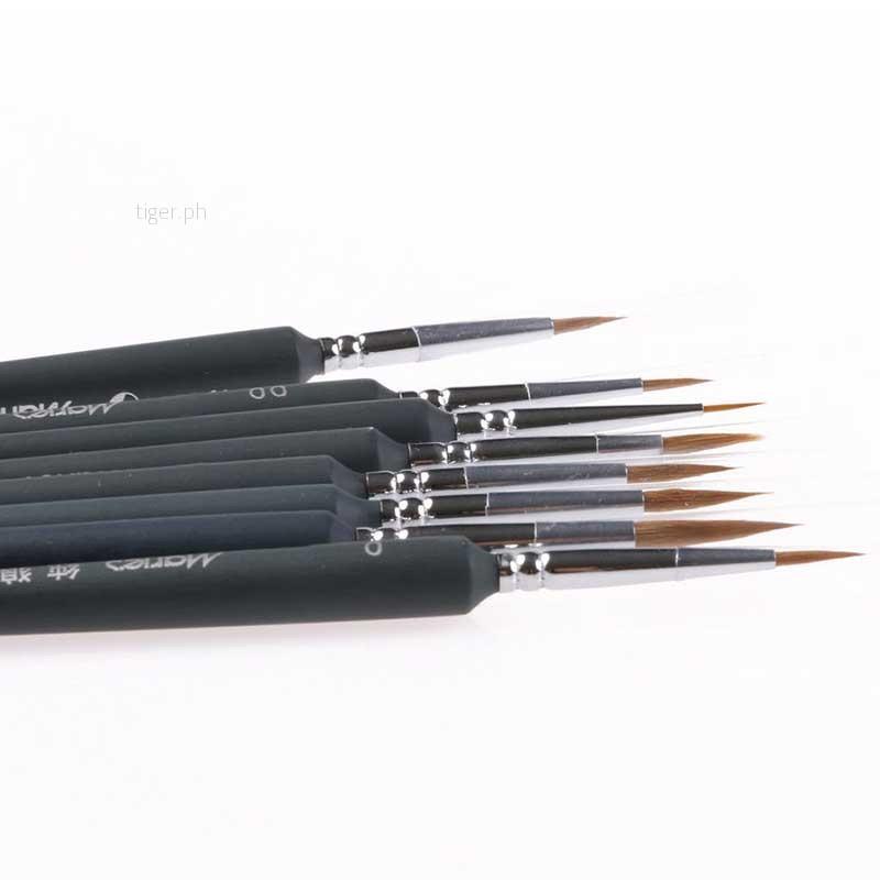 9Pcs Brush Pen Liner For Sketched Lines Gouache Watercolor Paint Oil Painting