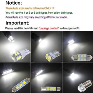 Car Interior Light Bulb Types