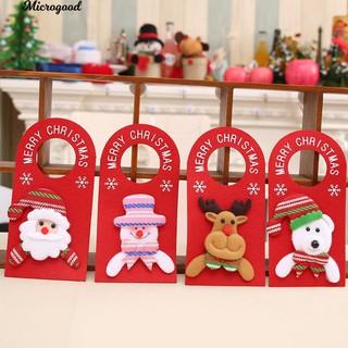 Christmas Door.Lovely Cartoon Xmas Santa Claus Snowman Moose Bear Christmas Door Hanger