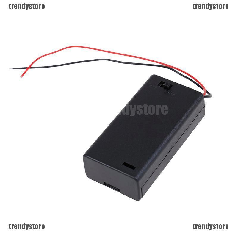 2PCS 2A Battery Holder Box Case with ON//OFF Switch and Cover for 2AA battery