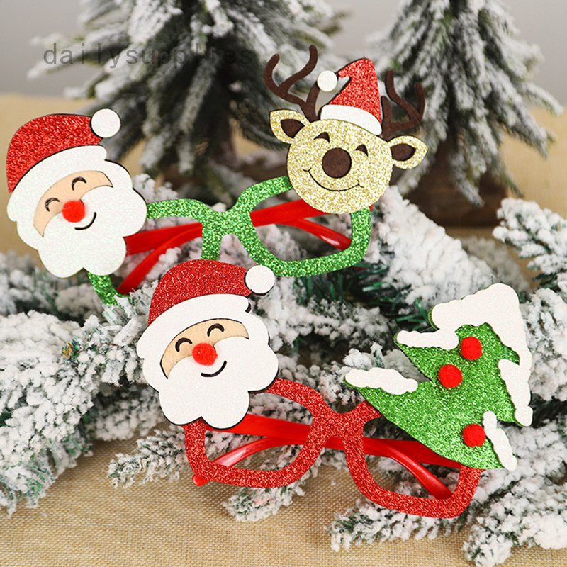 New Christmas Decorations Cartoon Old Man Christmas Glasses Shopee Philippines
