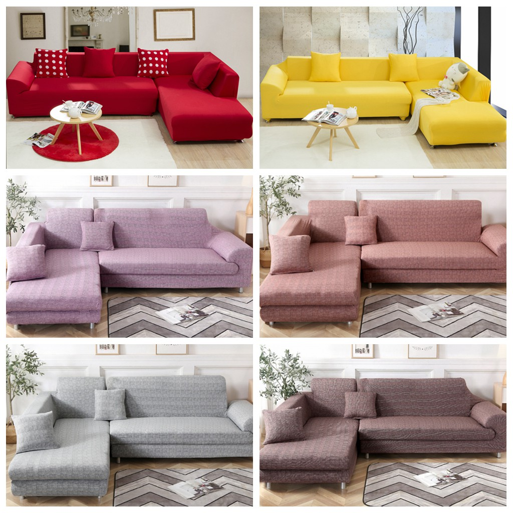 Pure Color Sofa Murah Sarung Cover
