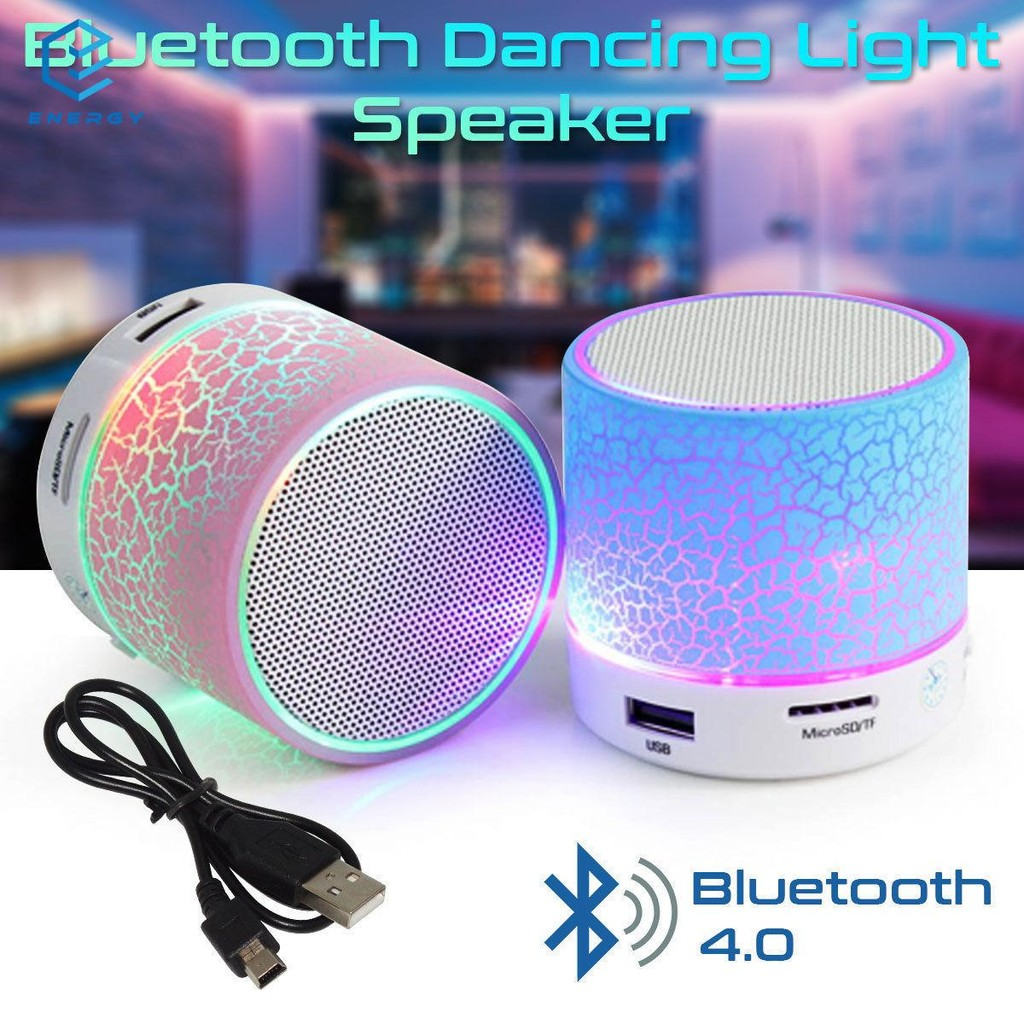 New Subwoofer Led Music Fountain Water Dance Bluetooth Speaker With Tf Card Slot Stereo Bass And Computer Mp3 Audio Input Speakers