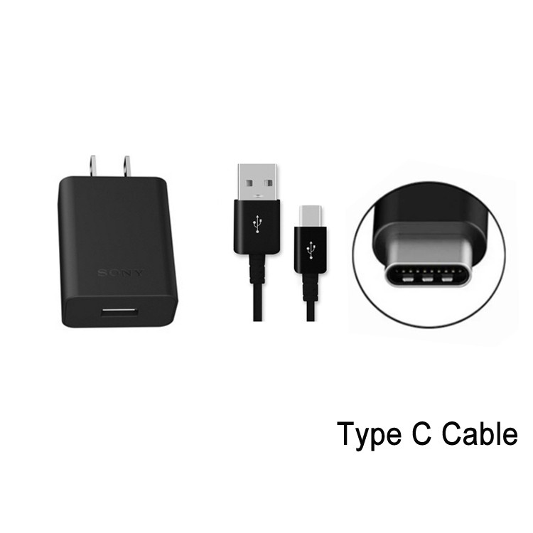 QC 3.0 USB Type-C AC Charger for Sony Xperia XA1 XA2 Ultra Power Supply Adapter Cord