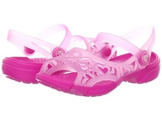f8076e6c4ab7 ... Crocs ADRINA HEARTS SANDAL size c8. sold out