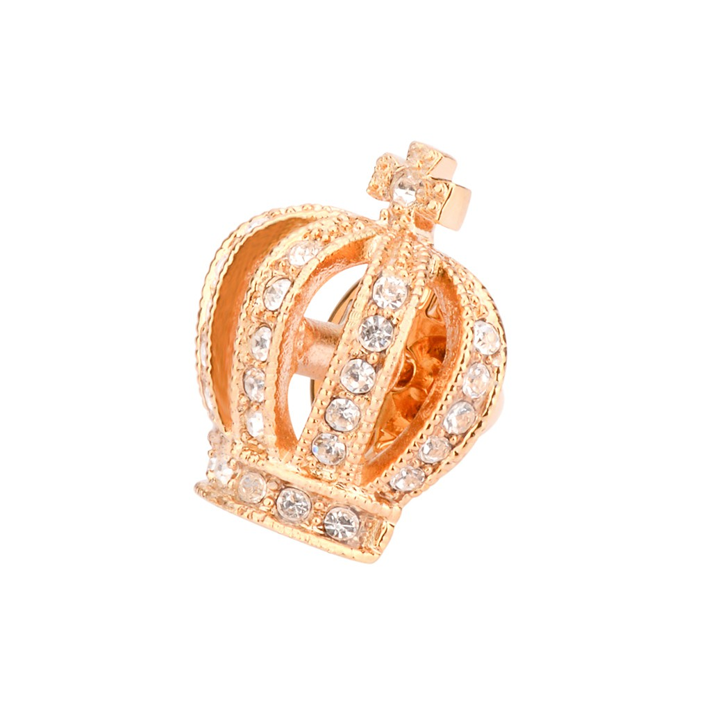 Crystal Rhinestone Victoria King Queen Crown Wedding Bridal Brooch Pin Gift