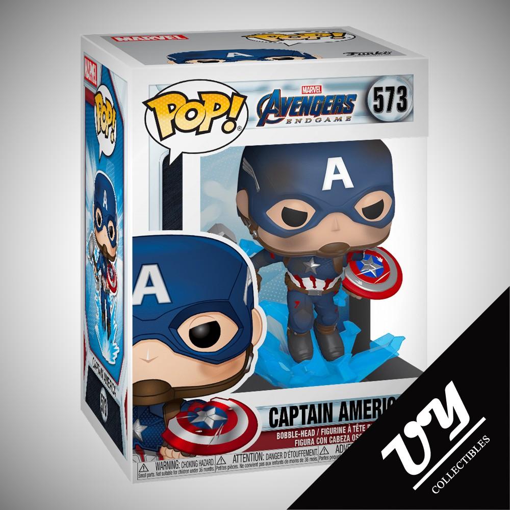 Avengers Endgame Captain America Collectible Figure, Pop Bobble 36661 Funko