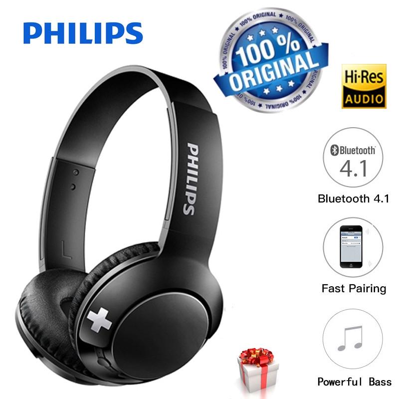 Original PHILIPS SHB3075 Wireless Bluetooth Stereo Headset Earphones  Headphones with Mic Control