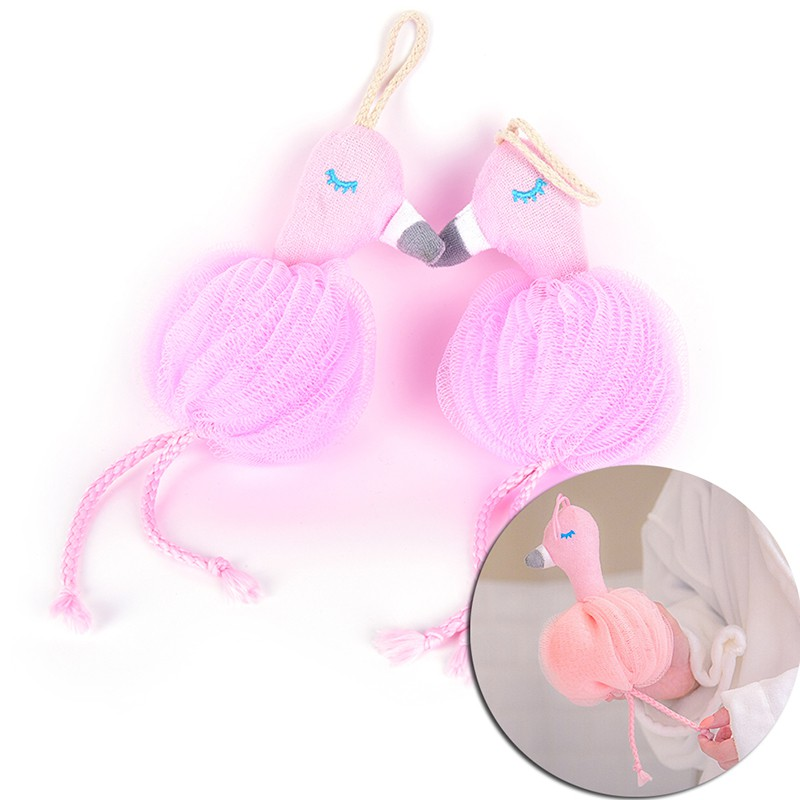 Efficient Flamingo Bath Ball Bathsite Bath Tubs Cool Ball Body Cleaning Mesh Shower Wash Product Bath Towel Scrubber Beauty & Health