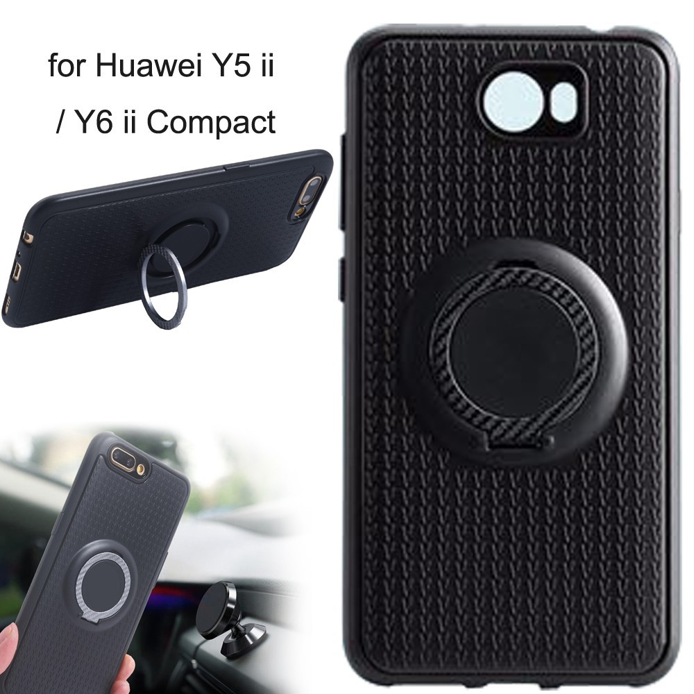competitive price b9751 1b47e Casing Huawei Y5 ii Case Stand Huawei Y6 ii Compact Finger Ring Magnetic  Cover