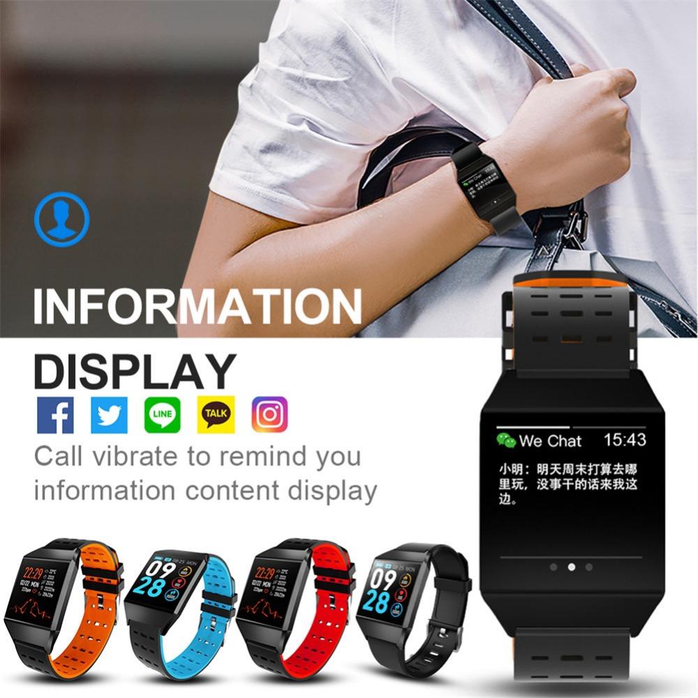 W1C Fitness Tracker Heart Rate Monitor Bluetooth Smart Watch