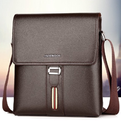 2019 New Fashion Business Shoulder Bags For Men Waterproof Oxford Messenger Bags,Brown,L