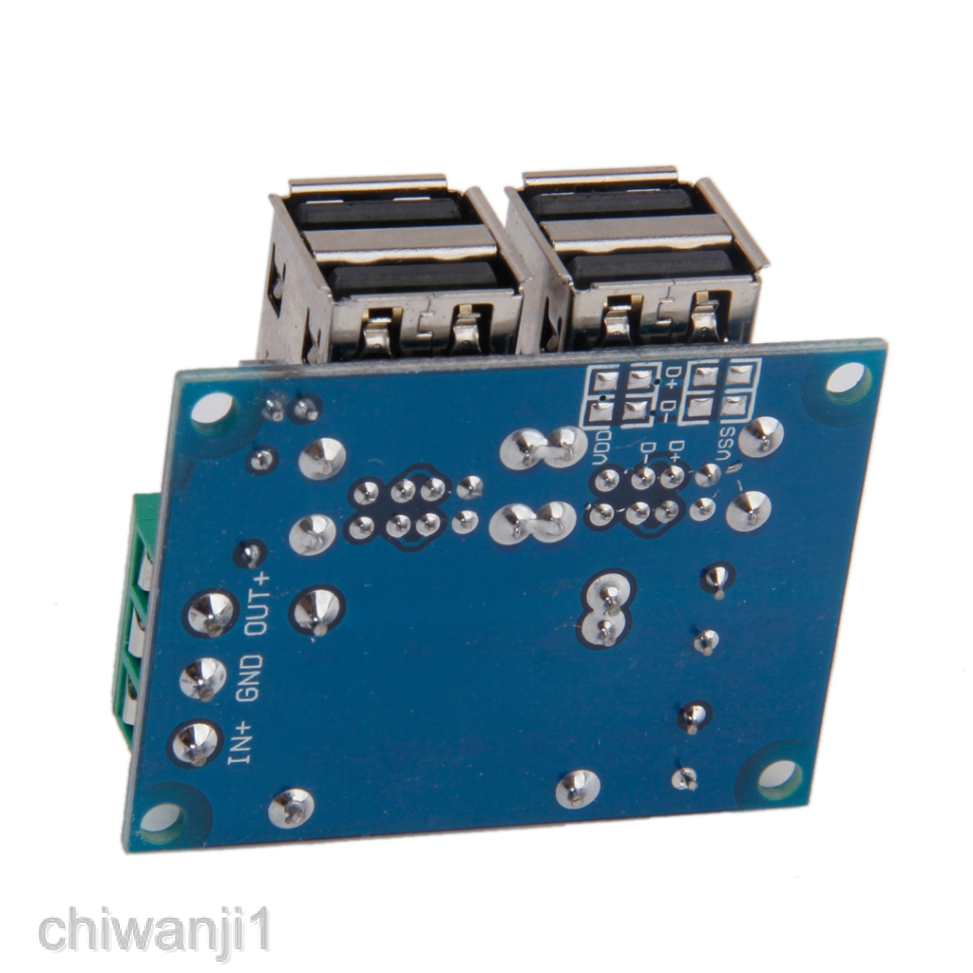 DC 9V-20V to 5V 6A 4-USB Port Step-down Power Supply Converter Board Module