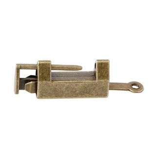 Chinese Old Style Brass Padlock Wedding Jewelry Box Padlock Lock Catch With Key Locks, Latches & Keys