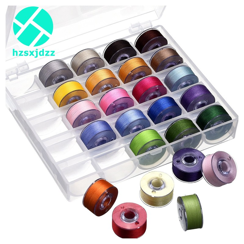 25 Bobbins Assorted Colors Sewing Thread for Brother/ Babylock H0PH