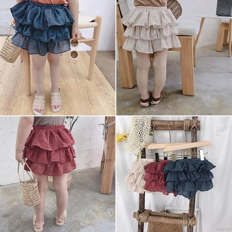 Girls Short Skirts Cute Children Baby Kids Girls Lovely Mesh Layers Design Elastic Short Skirts Shopee Philippines