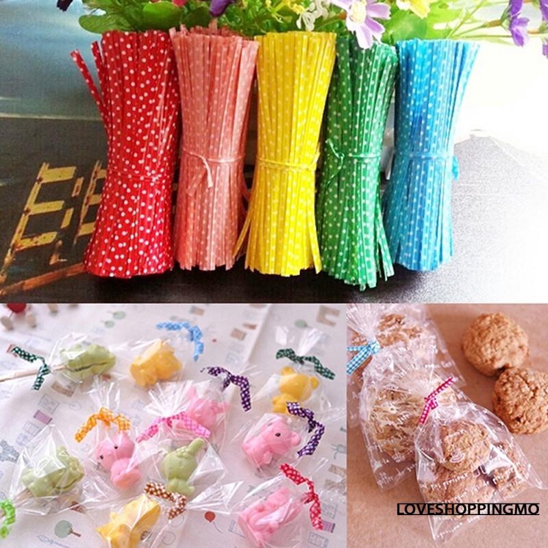 800Pcs Colorful Sealing Bag Metallic Twist Ties For Cake Candy Lollipop Cello