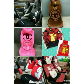 Enjoyable 18 In 1 Car Seat Cover Hello Kitty Baymax Mickey Chanel Lv Pdpeps Interior Chair Design Pdpepsorg