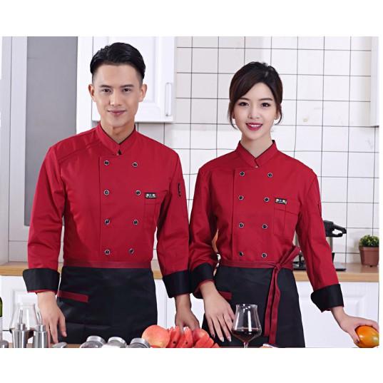 Spring Chef Long Sleeve Coat Women Men Work Wear Uniform Waiter Overalls Shopee Philippines