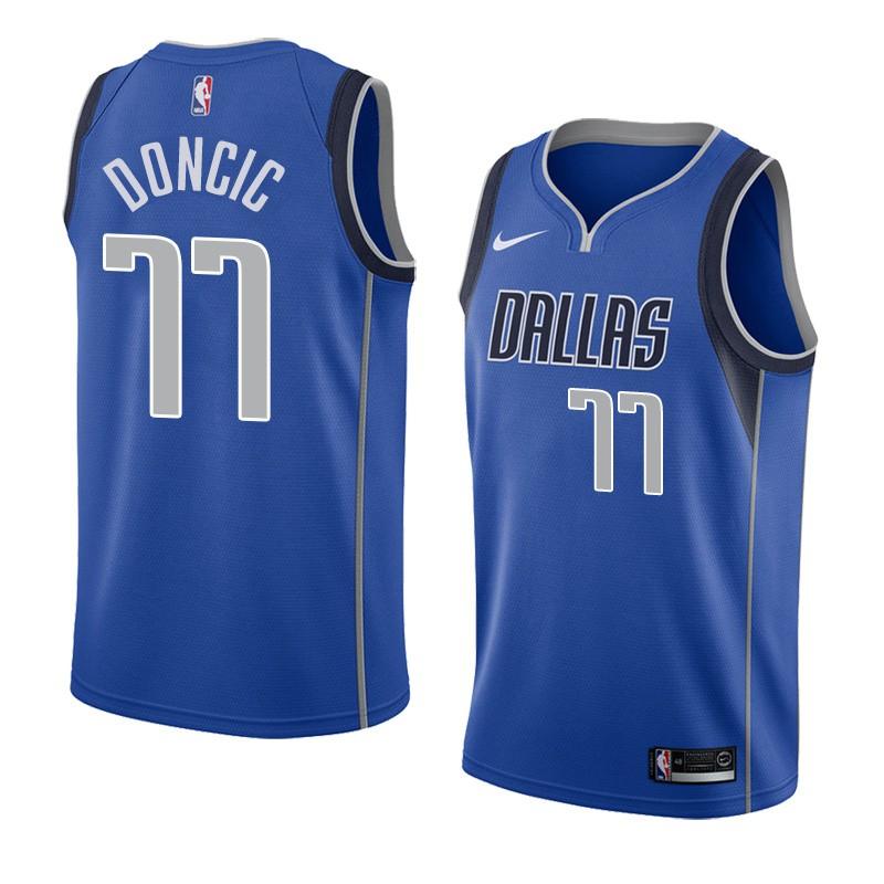 a4814bba3 Nike Dallas Mavericks Luka Doncic NBA Jersey  77 est Top blue ...