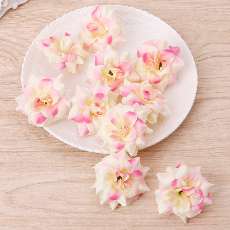 10pcs Artificial Flowers Rose Head DIY For Home Bridal Wedding Party Decoration