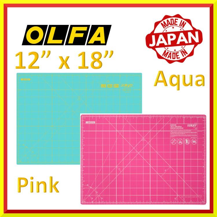 "OLFA Double Sided Self Healing Rotary Cutting Mat 12/"" x 18/"" Pink"