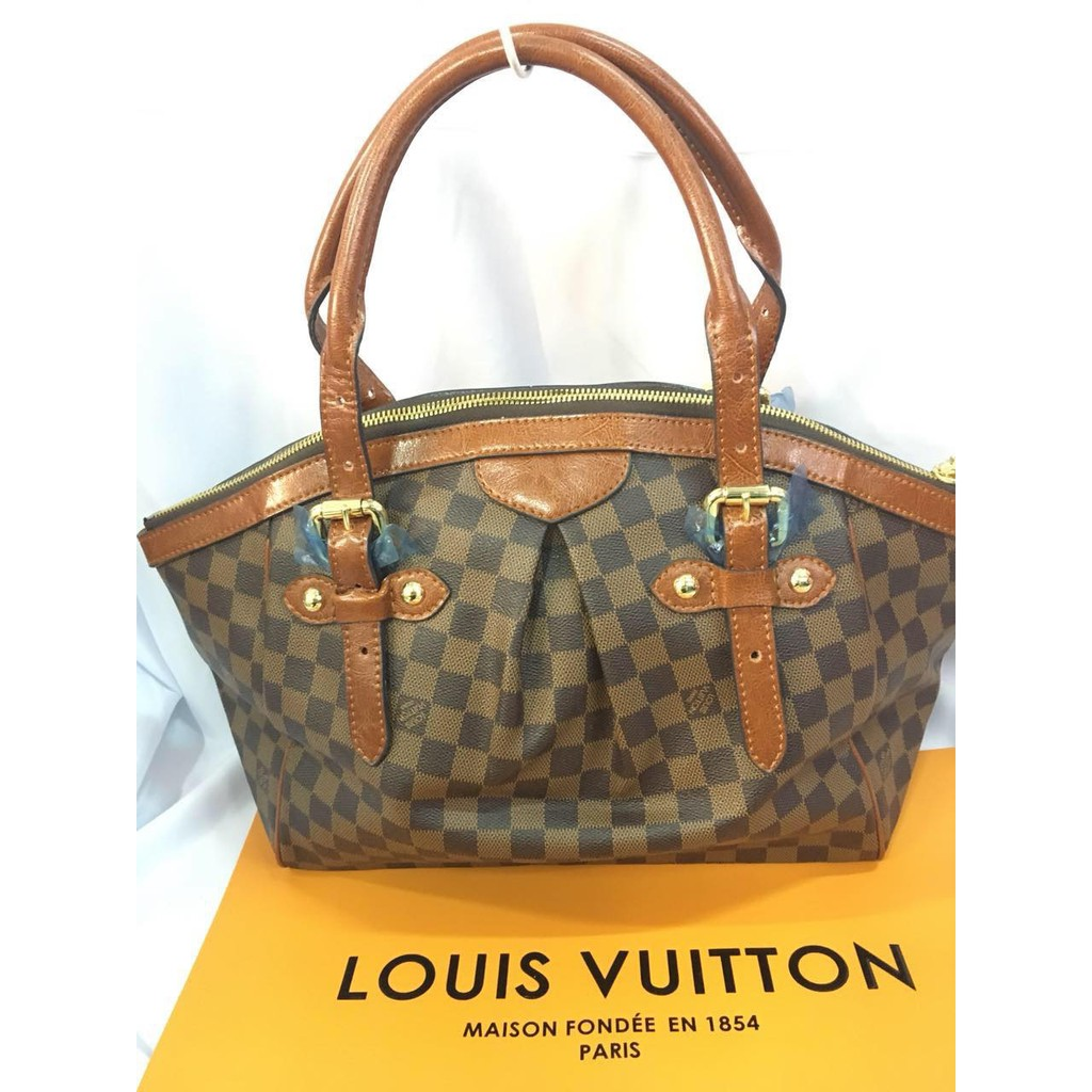 e04581367 Bolsa réplica Louis Vuitton Tivoli GM Checkered Brown | Shopee Philippines