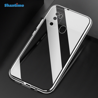 2 in 1 Ytaland for Ulefone Note 9P Case,with Tempered Glass Screen Protector. Crystal Clear Soft Silicone Shockproof TPU Transparent Bumper Protective Phone Case Cover