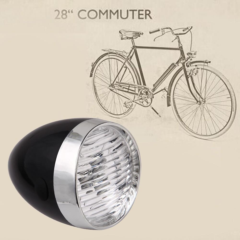 Retro Bicycle Bike Accessory Vintage 3LED 160° Headlight Front Light Bracket