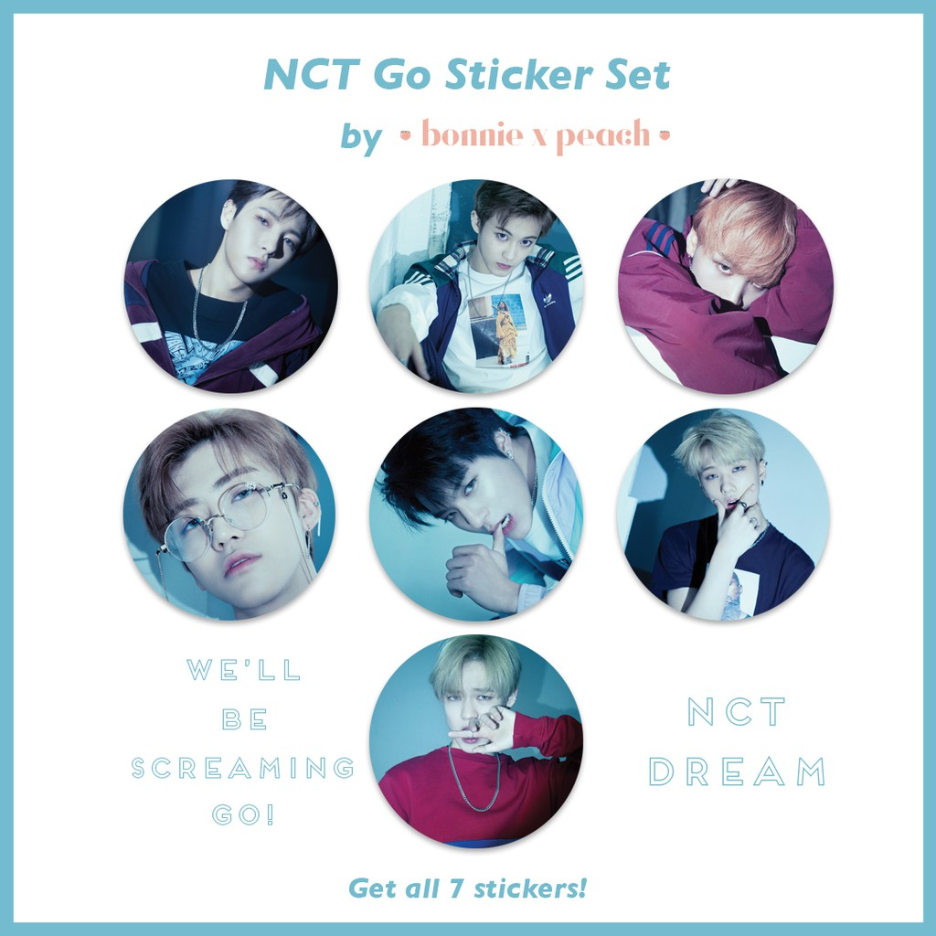 NCT Go Sticker Set