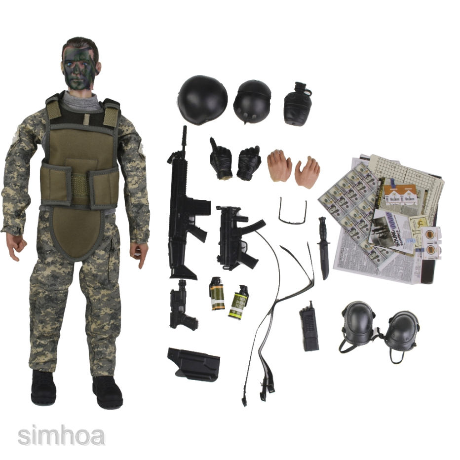"1//6 Scale Camouflage Uniform Set For 12/"" Action Figure Dolls Toys"
