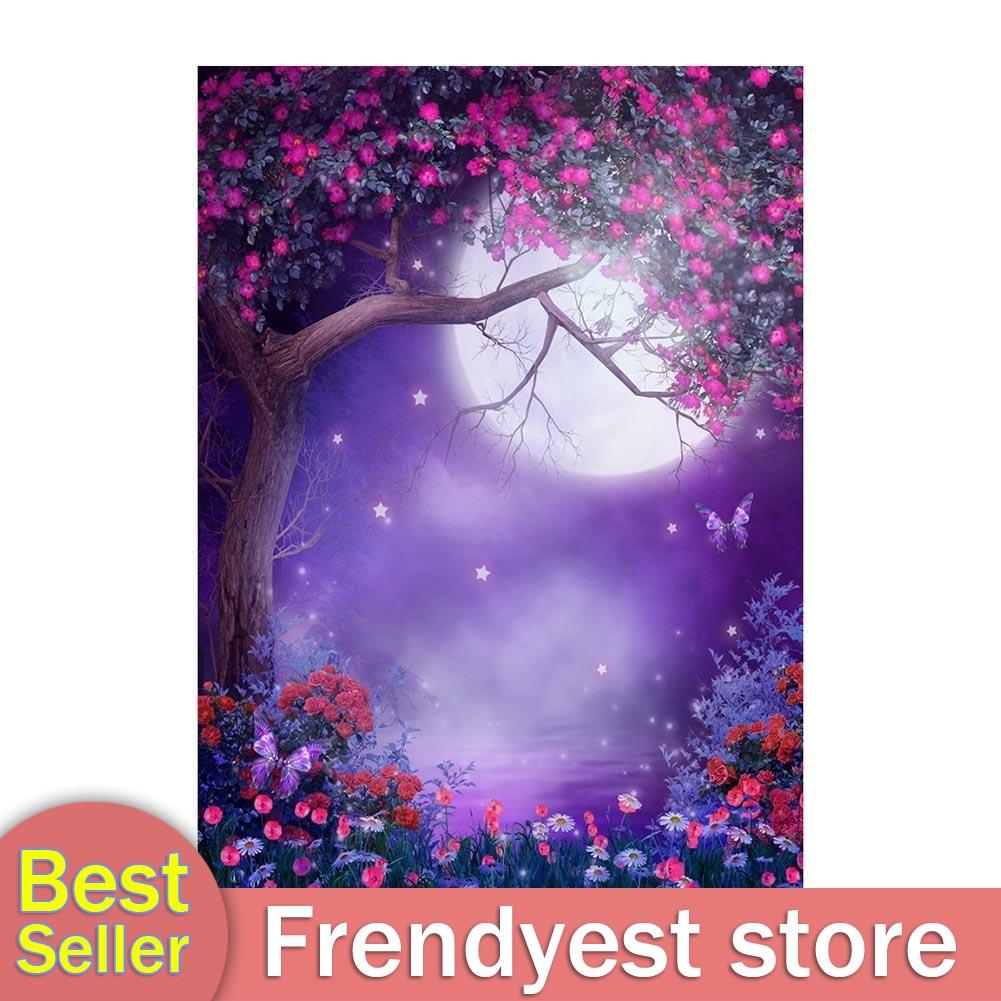 5d diy diamond painting full drill landscape moon tree mosaic home decoration  X