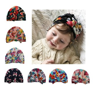 bd052ea1a08 Cute Newborn Toddler Kids Baby Boy Girl Turban Cotton Beanie Hat ...