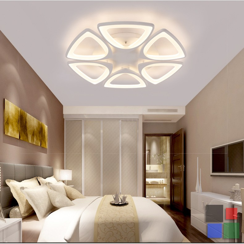 Led Modern Chandelier Architectural Triangle Design Ceiling Lamp Tricolor Shopee Philippines