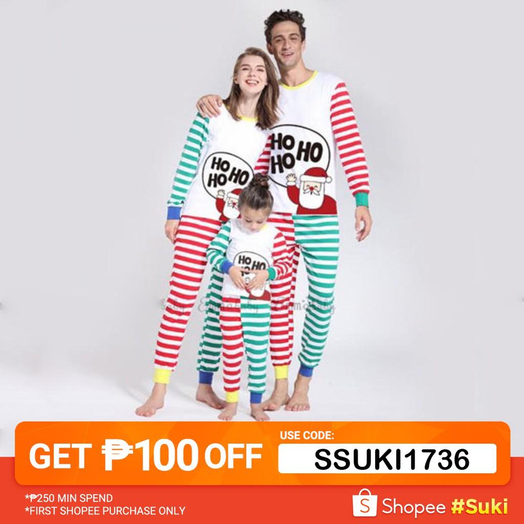 06dd855d1b089 ECI-New Fashion Family Matching Christmas Pajamas Set Women