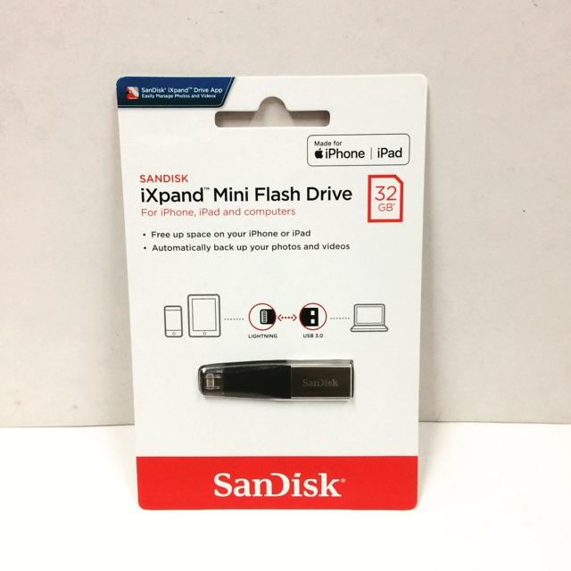 Sandisk IXpand Mini 32/64GB OTG Flash Drive For IPhone/IPad