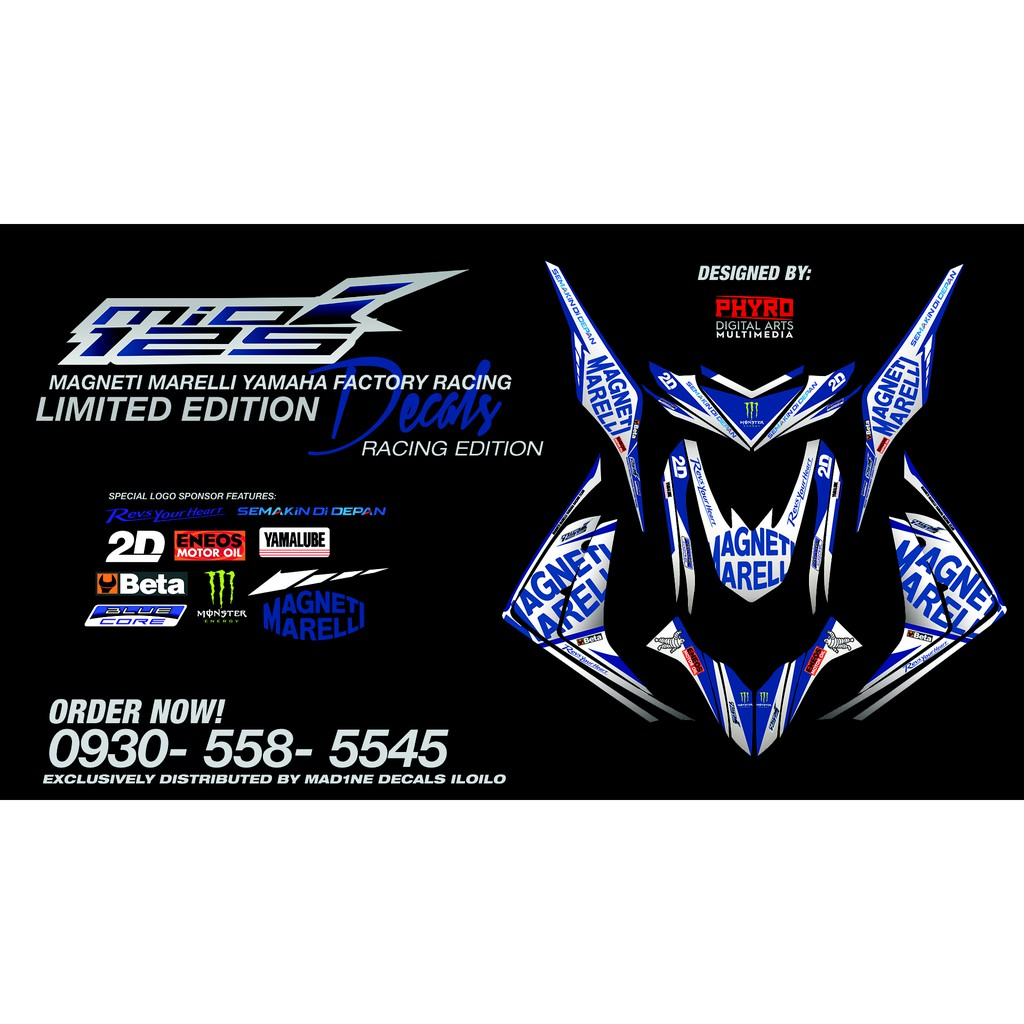 Yamaha mio i 125 whole body decals racing concept shopee philippines