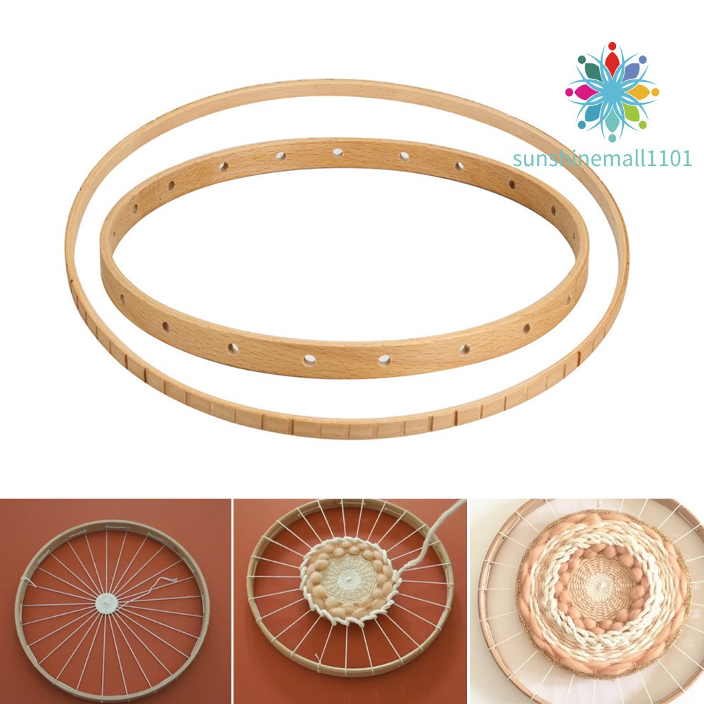 Wood Tools Knitting Sewing Wooden Craft DIY Loom Knitter